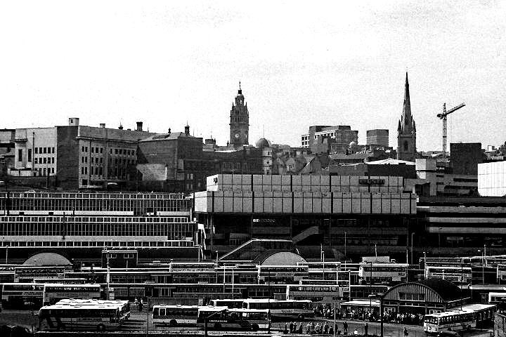 Sheffield Pond Street bus station, 1987