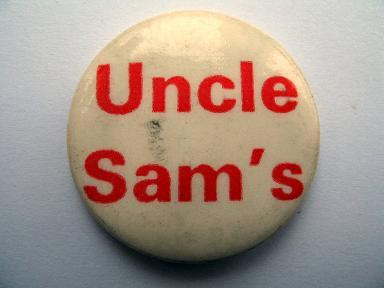 Uncle Sam's Chuck Wagon badge