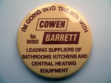Cowen Barrett, Sheffield - promotional badge