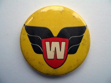 Warlord comic membership badge