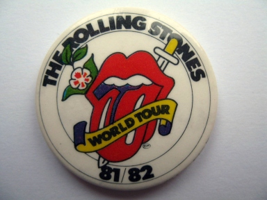 Rolling Stones World Tour 1982 badge