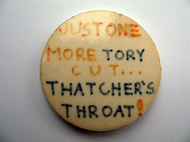 'Just one more Tory cut' badge