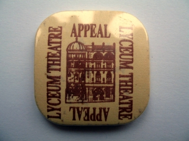Lyceum Theatre Appeal badge