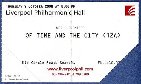 'Of Time and the City' ticket