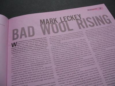 Mark Leckey interview in Bido Lito magazine