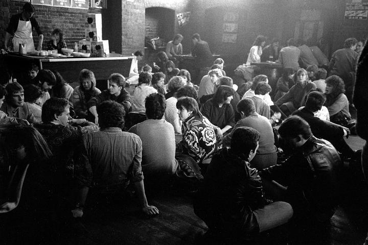 Leadmill back room, Sheffield, 1986