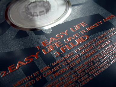 Cabaret Voltaire - 'Easy Life' label detail
