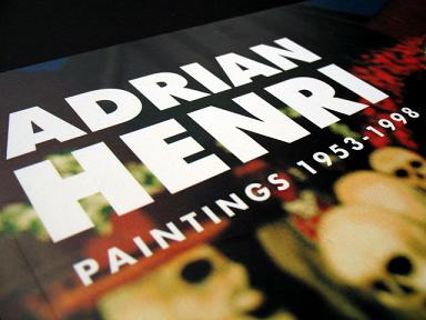 Adrian Henri exhibition catalogue, published by National Museums Liverpool