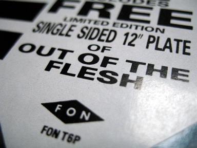Chakk - 'Out Of The Flesh' label detail