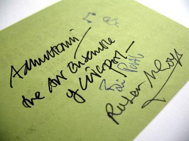 Adrian Henri, Brian Patten and Roger McGough autographs