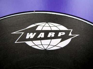Warp logo and lilac sleeve genius by Designers Republic