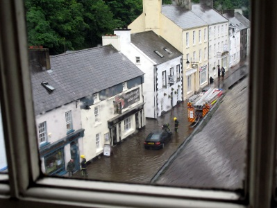 Flooded street in Cushendall, June 2012