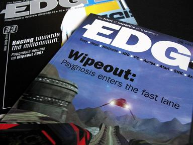Edge magazine 'Wipeout' covers