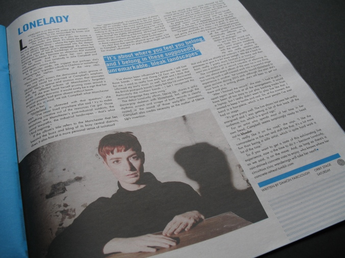 LoneLady article in Bluedot Volume One