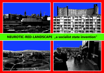 Neurotic Red Landscape by Damon Fairclough - artwork inspired by 'Pay Your Rates' by The Fall