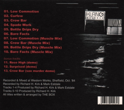 @Doublevision by The Box, CD back cover