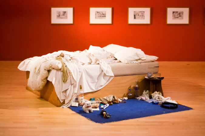 My Bed by Tracey Emin at Tate Liverpool © Pete Carr