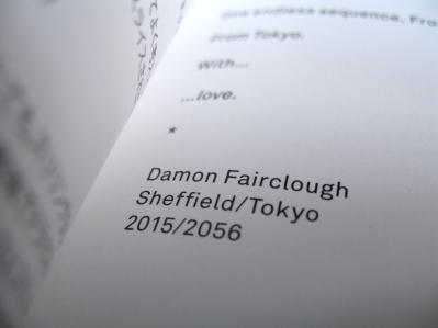 SHEFFIELD>>>TOKYO + <3 exhibition catalogue