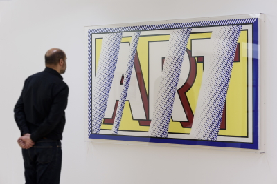 Reflections: Art 1988 by Roy Lichtenstein on display in ARTIST ROOMS: Roy Lichtenstein in Focus at Tate Liverpool